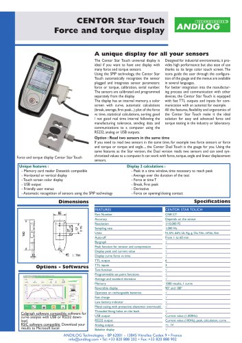 Centor Dual, two-channels force gauge