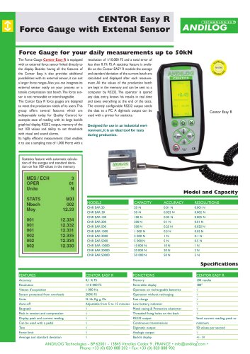 Centor Easy R, digital force gauge with external sensor