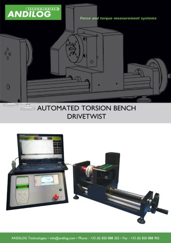 DriveTwist, automated torsion test bench