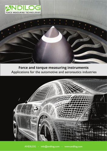 Force and torque testing  - Automotive and Aeronautics