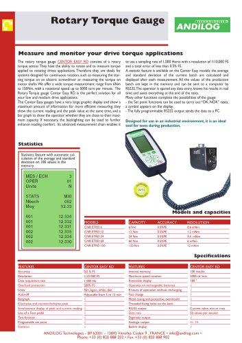Rotary Drive Torque gauge CENTOR