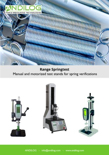 Spring testers - Range Springtest
