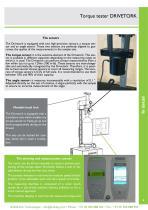 Vertical torque tester - DRIVETORK CC - 3