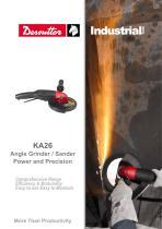 KA26 Angle Grinder / Sander Power and Precision