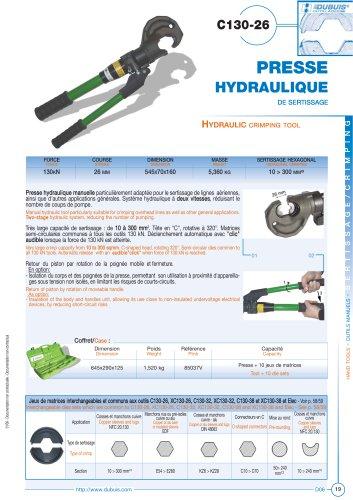 C130-26 - Hydraulic crimping tool