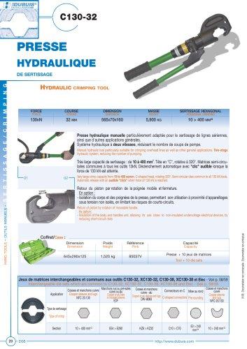 C130-32 - Hydraulic crimping tool