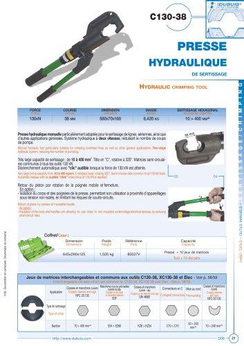 C130-38 - Hydraulic crimping tool
