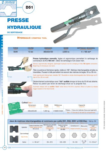 D51 - Hydraulic crimping tool