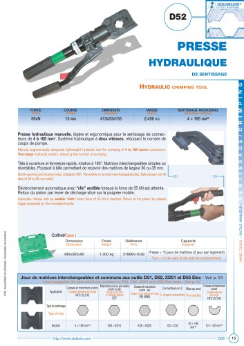 D52 - Presse hydraulique de sertissage