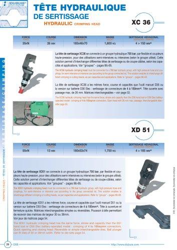 XD51 - Tête hydraulique de sertissage
