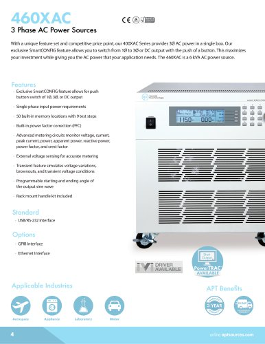 400XAC - 3 Phase AC Power Source