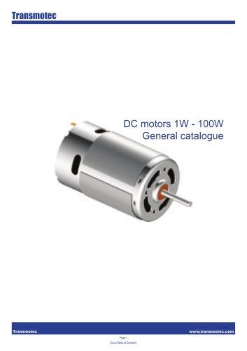 Complete Motors DC 1W 100W Catalogue