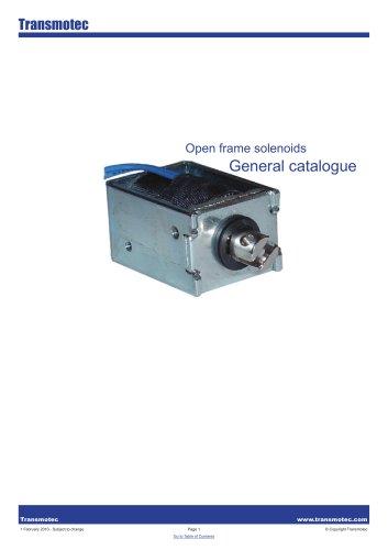 Complete Solenoids Open Frame Catalogue