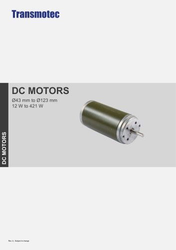 PLANETARY GEAR DC MOTORS Ø 43 mm to 123 mm 12 W to 421 W