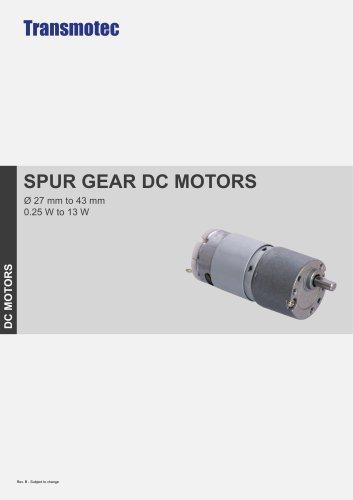SPUR GEAR DC MOTORS