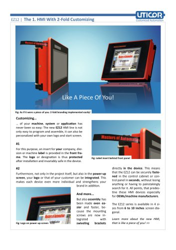 The 1. HMI With 2-Fold Customizing