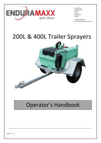 200 & 400 Litre Trailer Sprayers