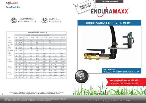Boomless Flat Spray Manual ? 151102 ? 151117