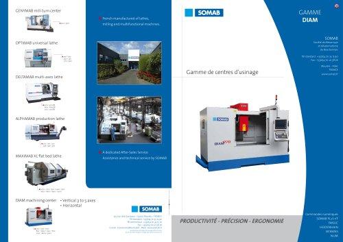 Vertical Milling Center DIAM range