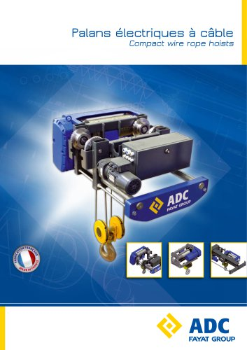 Compact wire rope hoists