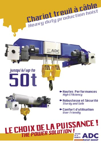 Download the document about the Wire rope hoist 50T