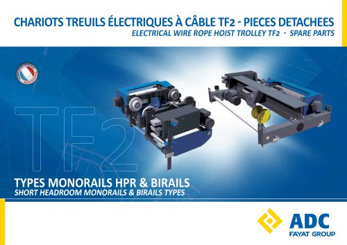 ELECTRICAL WIRE ROPE HOIST TROLLEY TF2