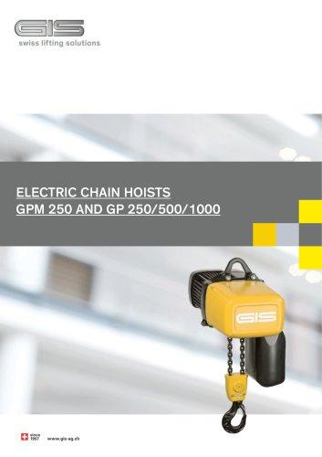 GP+GPM CHAIN HOISTS