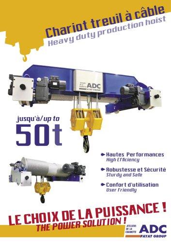 Heavy duty production hoist