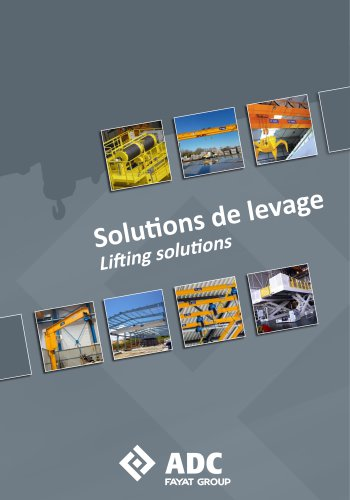 Lifting solutions - Solutions de levage