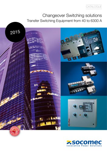 Catalogue extract: Changeover Switching solutions Transfer Switching Equipment from 40 to 6300 A