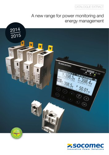 Catalogue extract: A new range for power monitoring and energy management