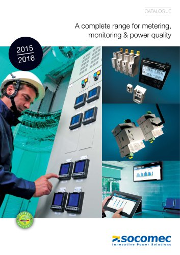 Catalogue for Metering, Monitoring & Power quality