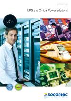 Catalogue : UPS and Critical Power Solutions - EMEA area (Europe-Middle East-Africa)