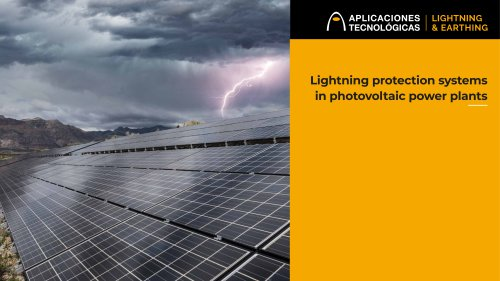 Lightning protection systems in photovoltaic power plants