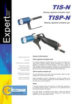 Blowing capacitive ionisation head TIS-N         Blowing capacitive ionisation gun TISP-N