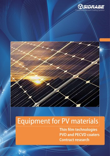 Equipment for PV materials