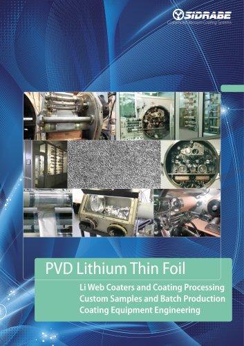 PVD Lithium Thin Foil
