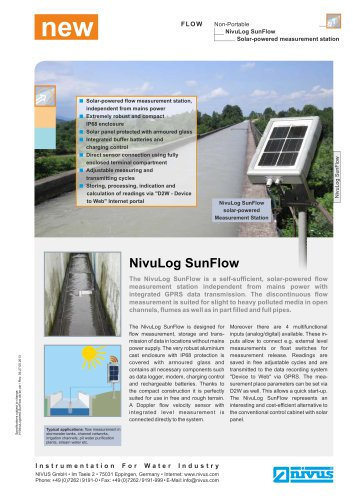 NivuLog SunFlow
