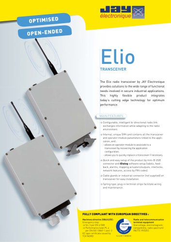 Elio Optimized, open-ended transceiver