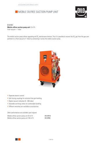 Mobile oilfree suction pump unit