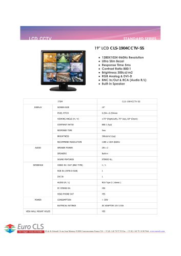 CLS-1904CCTV-SS