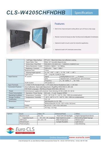 CLS-W4205CHFHDHB