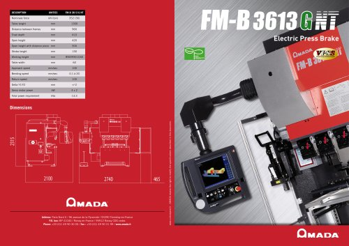 FMB Electric press brake