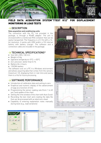 Field data acquisition system (T-TEST)