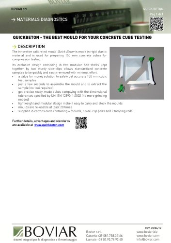 Mould for your concrete cube testing