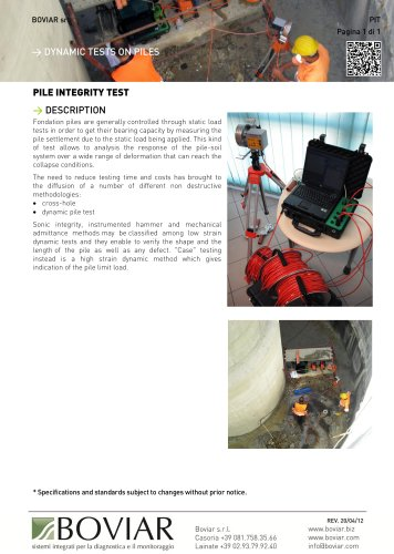 PIT-PILE INTEGRITY TEST