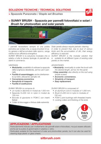 Sunny Brush - Brush For Photovoltaic and Solar Panels