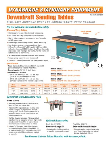Downdraft Sanding Tables