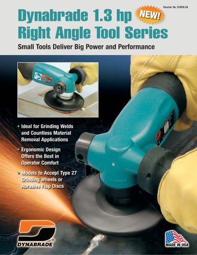 Dynabrade 1.3 hp Right Angle Tool Series