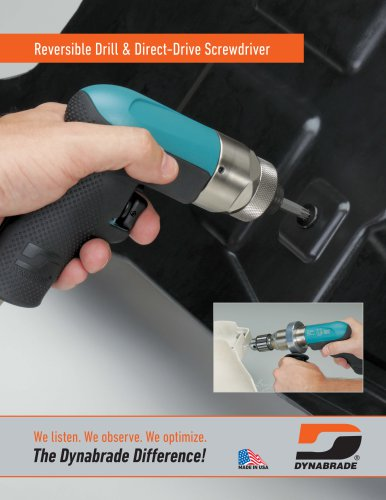 Reversible Drill & Direct-Drive Screwdriver